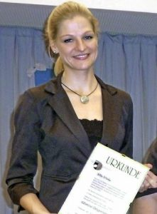 Silke D'Inka, Leiterin der Münstertäler Akkordeongruppe. Foto: E. Gross