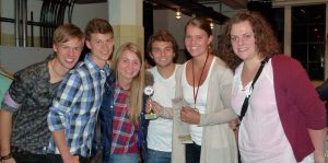Franziska Wenger mit Fans