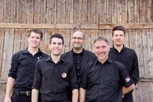 v.l.n.r.: Jonas Pfefferle, Michael Riesterer, Bernd Lucht, Karl-Heinz Riesterer, Johannes Riesterer
