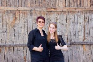 v.l.n.r.: Elsbeth Nägelin, Lisa Petrich