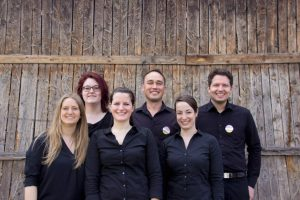 v.l.n.r.: Corinna Lais, Patrizia Nägelin, Elena Gutmann, Sergej Gerasimov, Christina Fischer, Matthias D'inka