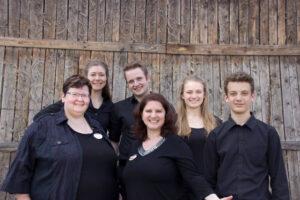 v.l.n.r.: Doris Huck, Theresa Riesterer, Tobias Buerget, Tanja Krämer-McKaffery, Jessica Reber, Tobias Pfefferle