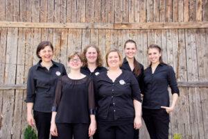 v.l.n.r.: Lioba Riesterer, Silke Wiesler, Nadine Bauer, Sabine Riesterer, Franziska Wenger, Fabienne Stiefvater